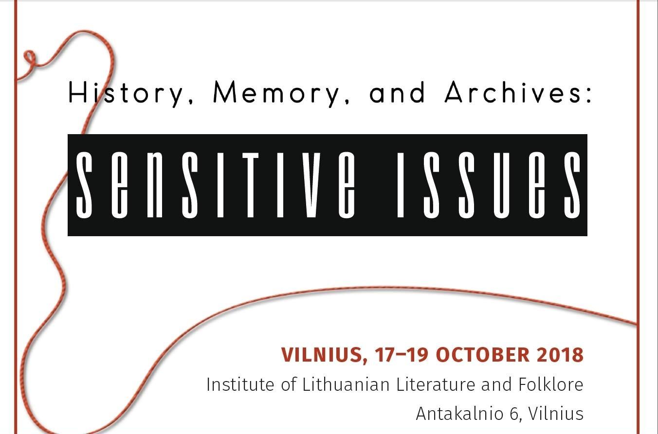"Attēlu rezultāti vaicājumam ""History, Memory, and Archives: Sensitive Issues"""